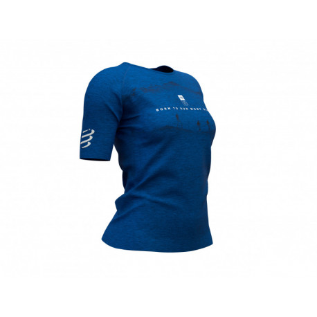 COMPRESSPORT TRAINING T-SHIRT W MONT BLANC 2019 BLUE