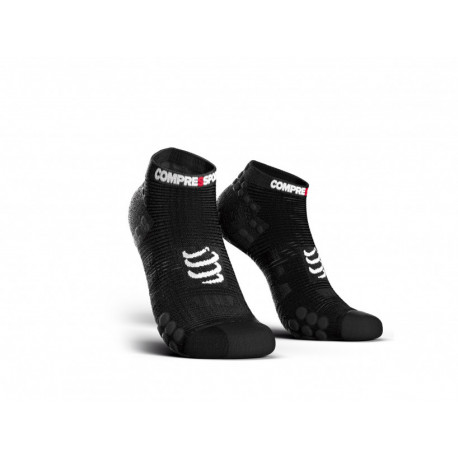 COMPRESSPORT PRO RACING SOCKS V3.0 RUN LOW SMART BLACK
