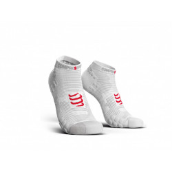 COMPRESSPORT PRO RACING SOCKS V3.0 RUN LOW SMART WHITE
