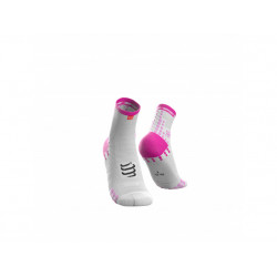 COMPRESSPORT PRO RACING SOCKS V3.0 RUN HIGH WHITE PINK