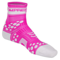 COMPRESSPORT PRO RACING SOCKS V2 FLUO PINK