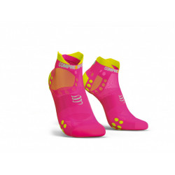 COMPRESSPORT PRO RACING SOCKS V3 ULTRALIGHT FLUO PINK