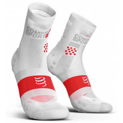COMPRESSPORT PRO RACING SOCKS V3 ULTRALIGHT HIGH SMART WHITE