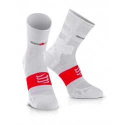 COMPRESSPORT PRO RACING SOCKS V3 ULTRALIGHT HIGH IRONMAN SMART WHITE