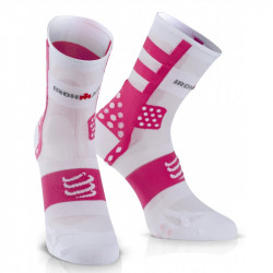 COMPRESSPORT PRO RACING SOCKS V3 ULTRALIGHT HIGH IRONMAN PUNCY PINK