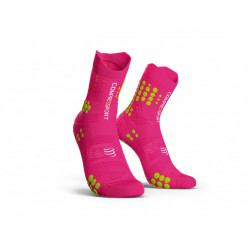 COMPRESSPORT PRO RACING SOCKS V3 TRAIL FLUO PINK