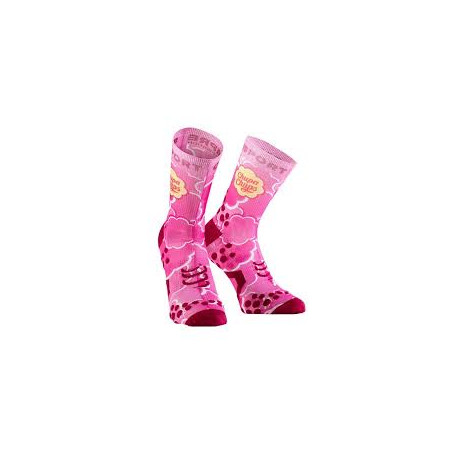 COMPRESSPORT PRO RACING SOCKS V2 CHUPA CHUPS PINK