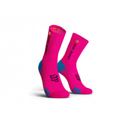 Compressport ProRacingSocks V3.0 Bike Fluo Pink