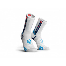 Compressport ProRacingSocks V3.0 Bike White Blue