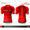 Compressport On Off Cycling Maillot Shirt Born to Ride Red