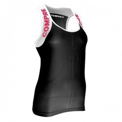 COMPRESSPORT SHIRT V2 TANK WOMAN BLACK