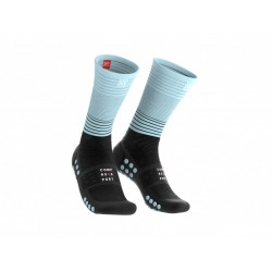 COMPRESSPORT MID COMPRESION SOCKS BLACK ICE BLUE