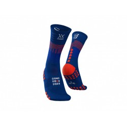 COMPRESSPORT MID COMPRESION SOCKS BLUE