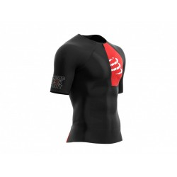 COMPRESSPORT TRIATHLON POSTURAL AERO SS TOP BLACK