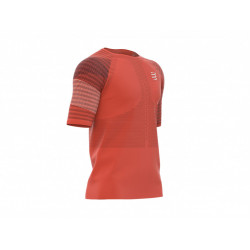 COMPRESSPORT RACING SS TSHIRT MAN BLOOD ORANGE