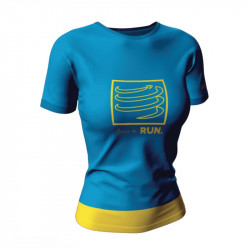 COMPRESSPORT TRAINING T-SHIRT W LTD BLUE