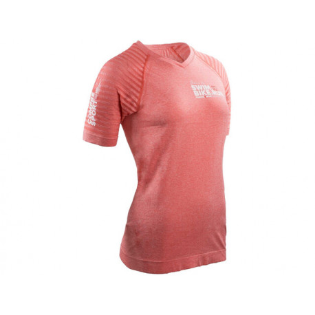 COMPRESSPORT TRAINING T-SHIRT W LTD SWIM BIKE RUN PINK